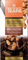 Trapa Intenso 80% Cukor Nélkül Étcsokoládé Mandulával 175g