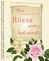 Rózsa Szörp Bodzával
